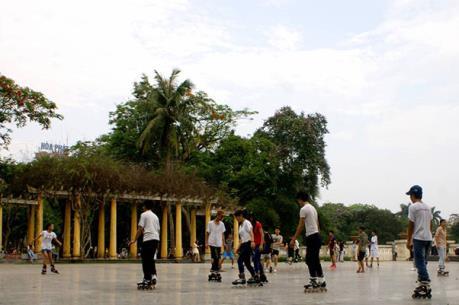 Không có công trình nổi tại bãi đỗ xe ngầm trong công viên Thống Nhất