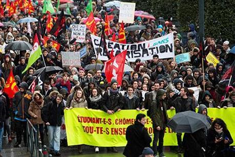 Đình công và biểu tình quy mô lớn tại Pháp