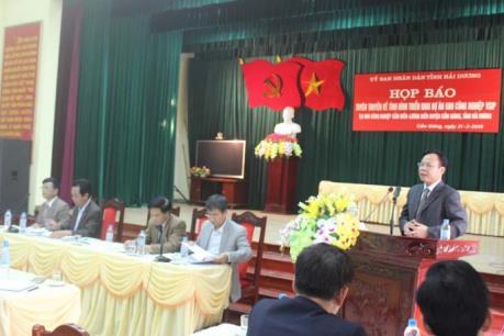 Hải Dương: Thông tin về việc triển khai Dự án KCN Cẩm Điền-Lương Điền