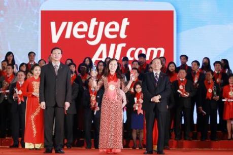"""Vietjet Air nhận danh hiệu """"Hãng hàng không được yêu thích nhất"""""""