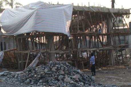Sập mái công trình nhà văn hóa ở Hải Phòng làm 9 người bị thương