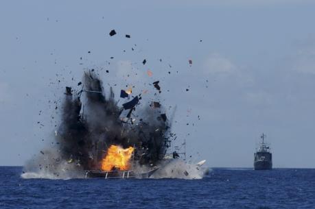 Indonesia đánh chìm 23 tàu cá nước ngoài
