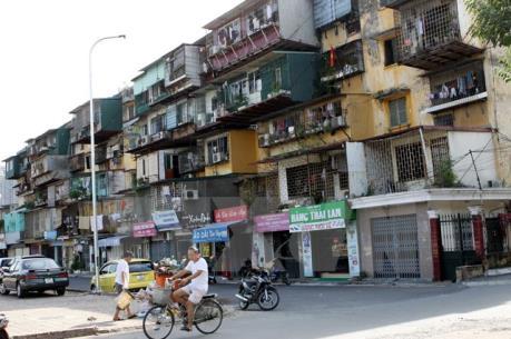 Các khu tập thể cũ được xây cao 21 - 24 tầng