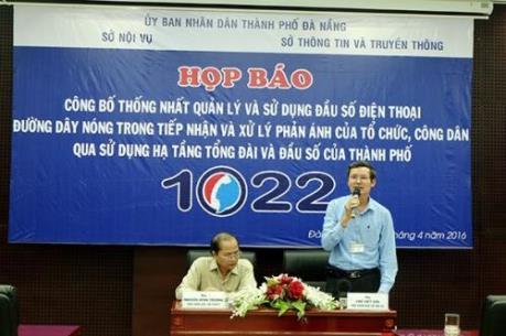 Đà Nẵng công bố đầu số đường dây nóng 0511.1022