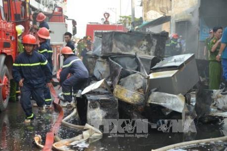 Quảng Ngãi: Cháy siêu thị điện máy, thiệt hại ban đầu hơn 10 tỉ đồng