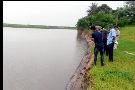 Hải Dương: Xuất hiện 5 điểm sạt lở bãi sông nguy hiểm