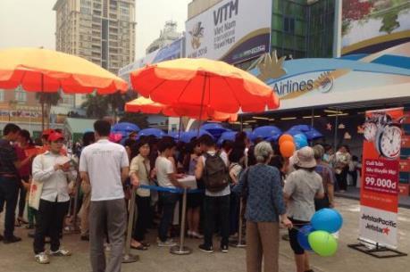 """Các hãng hàng không """"kiếm bộn tiền"""" tại Hội chợ Du lịch Quốc tế VITM Hà Nội"""