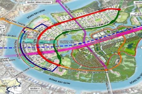 Hơn 3.300 tỷ đồng xây khu dân cư và đường trục Bắc – Nam trong Khu đô thị mới Thủ Thiêm