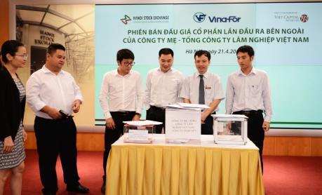 Bán hết 24,3 triệu cổ phần của Tổng Công ty Lâm nghiệp Việt Nam