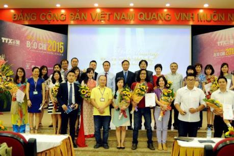 56 tác phẩm xuất sắc đoạt Giải báo chí TTXVN 2015