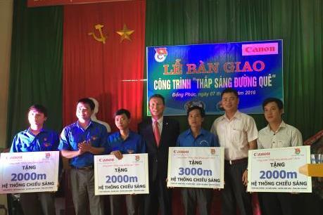 Canon tài trợ gần 70km đèn đường cho hai tỉnh Bắc Ninh và Bắc Giang