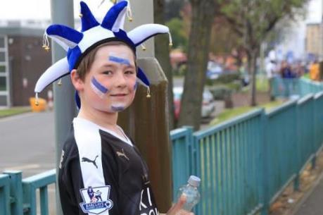 Niềm vui của các cổ động viên đội bóng Leicester City