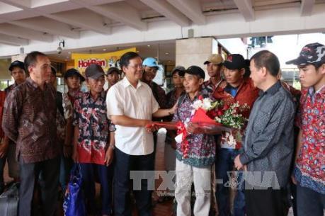 26 ngư dân Việt Nam bị Indonesia bắt giữ được đưa về nước
