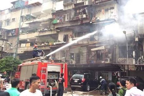 Hà Nội: Cháy lớn tại khu tập thể Cơ yếu Chính Phủ