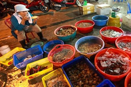 Giá các loại thủy hải sản tăng cao