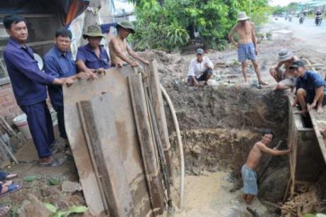 Vỡ tuyến ống chuyển tải Nhà máy nước BOO Đồng Tâm