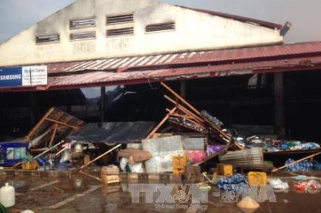 Vụ cháy chợ người Việt tại Lào: 200 tiểu thương Việt kiều trắng tay