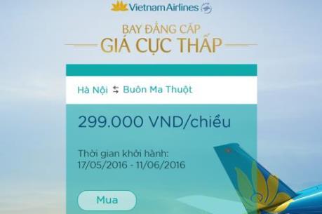Vietnam Airlines ưu đãi cực khủng cho các hành trình nội địa