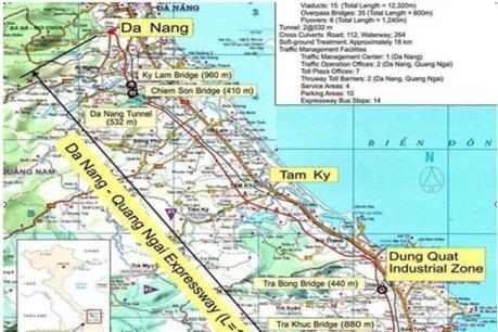 Vinaconex liên danh thi công cao tốc Đà Nẵng – Quảng Ngãi