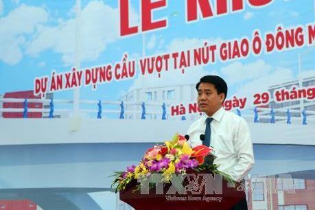 Hà Nội khởi công xây dựng cầu vượt nút giao Ô Đông Mác – Nguyễn Khoái