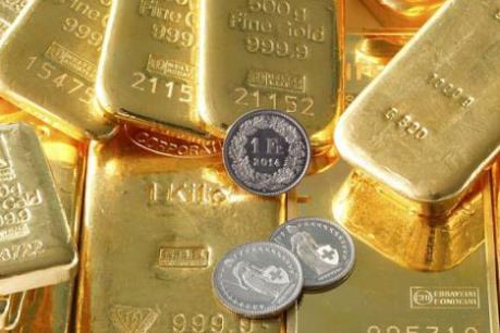 """Giá vàng thế giới lập """"đỉnh"""" của bốn tuần"""
