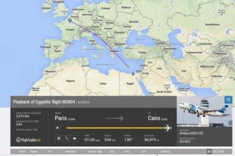 Vụ máy bay MS804 mất tích: Ai Cập cần thêm ít nhất 12 ngày để tìm hộp đen