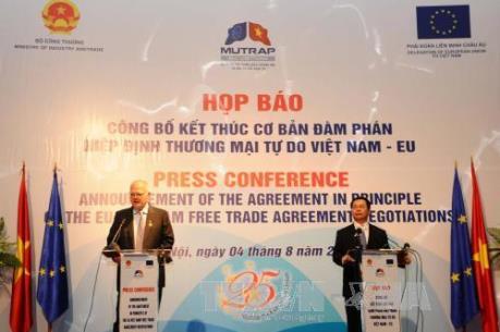 Hiệp định thương mại Việt Nam - EU sẽ có hiệu lực vào năm 2018