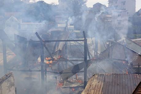 Hà Nội: Cháy tại nhà hàng Trúc Lâm Trai