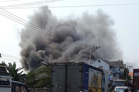 Quảng Trị: Cháy lớn tại siêu thị điện máy Kim Nguyên