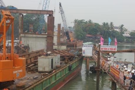 Cầu Ghềnh mới dự kiến vượt tiến độ 4 ngày