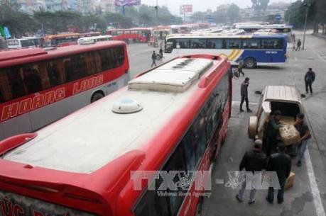 Nhà xe trước ngày giải tỏa bến xe Lương Yên