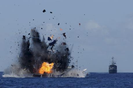 Indonesia thông báo kế hoạch đánh chìm tàu cá đánh bắt trái phép