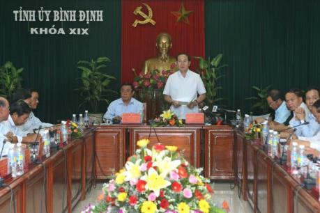 Chủ tịch nước đề xuất xây dựng Bình Định thành trung tâm kinh tế biển