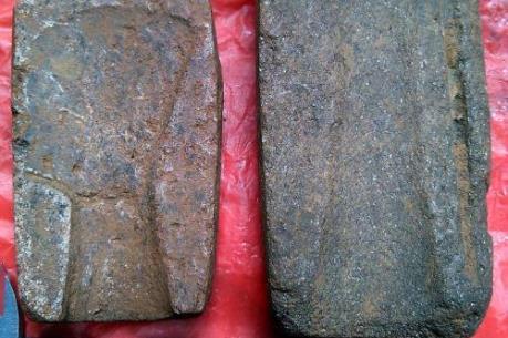 Phát hiện hai khuôn đúc đồng cổ bằng đá tại Yên Bái