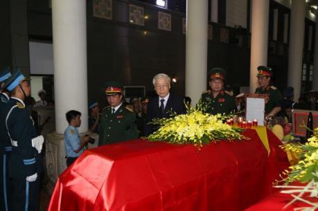 Lễ viếng và truy điệu các thành viên phi hành đoàn máy bay CASA 212