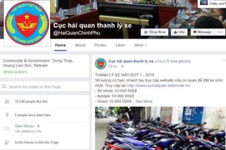 Tổng cục Hải Quan cảnh báo website giả mạo bán thanh lý xe nhập lậu