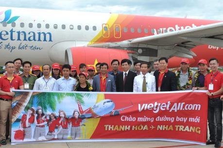 Vietjet khai trương đường bay Thanh Hóa – Nha Trang