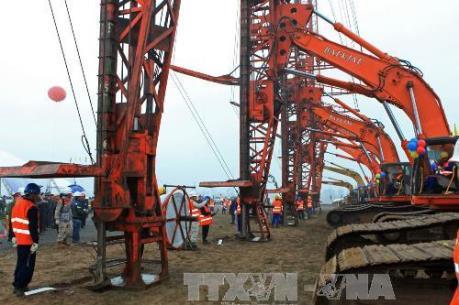 Lilama 69-1 hoàn thành trên 34% khối lượng tại Nhiệt điện Thái Bình 1