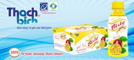 Thạch Bích tung sản phẩm nước giải khát TASTY Chanh leo ra thị trường