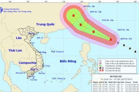Dự báo thời tiết 8/7: Cảnh báo ảnh hưởng của siêu bão Nepartak