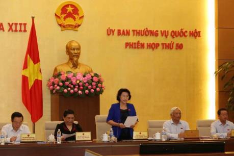 Chương trình nghị sự phiên họp thứ 50 của Ủy ban Thường vụ Quốc hội khóa XIII
