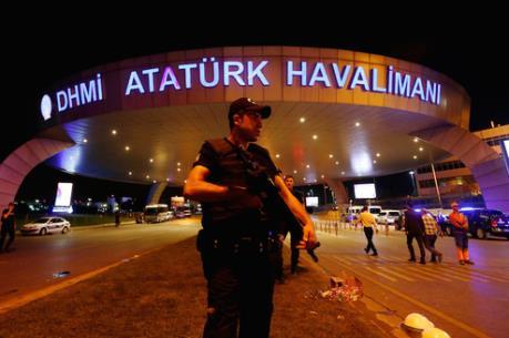 Vụ tấn công sân bay Thổ Nhĩ Kỳ: Đã có 37 đối tượng bị bắt giam