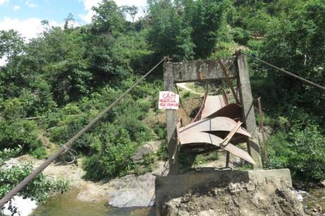 Nhiều cầu treo ở Lào Cai bị xuống cấp nghiêm trọng