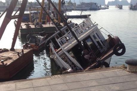 Tàu du lịch tự chìm tại cảng Tuần Châu đã bị dừng cấp phép hoạt động