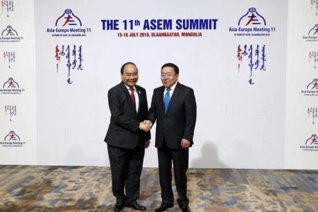 Thủ tướng Nguyễn Xuân Phúc dự Hội nghị Cấp cao Á – Âu lần thứ 11