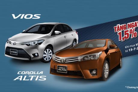 Toyota Việt Nam ưu đãi cho khách mua xe Altis và Vios