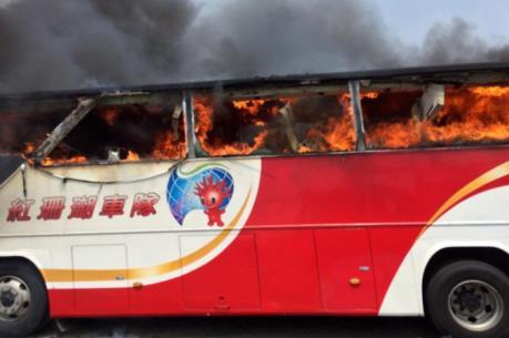 Đài Loan (Trung Quốc) cấm lưu thông nhiều xe khách sau vụ hỏa hoạn thảm khốc