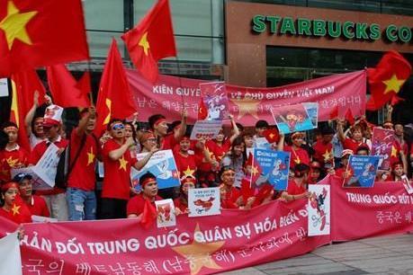 Người Việt tại Hàn Quốc tiếp tục biểu tình phản đối Trung Quốc