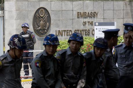 Nổ lớn ở Đại sứ quán Mỹ ở Myanmar