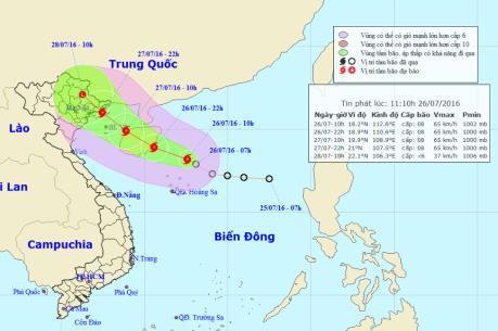 Áp thấp nhiệt đới mạnh lên thành bão số 1